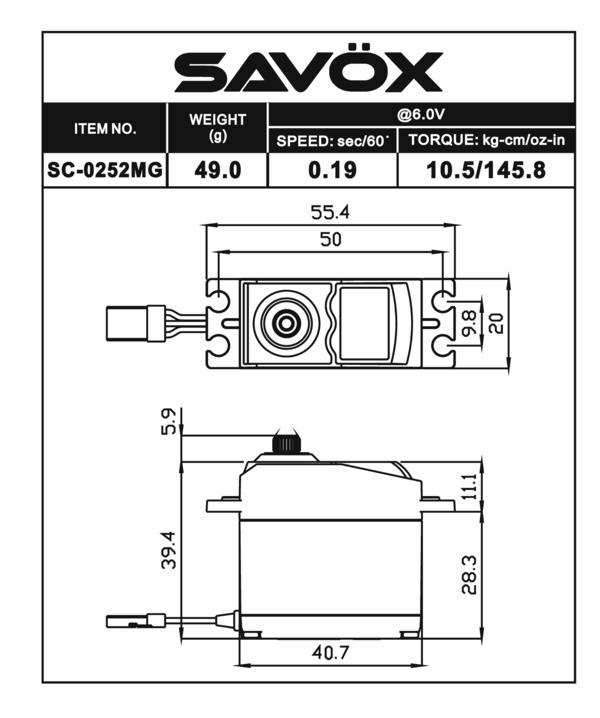 Savox 0252MG